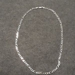 Sterling silver Figaro chain 20 inches long